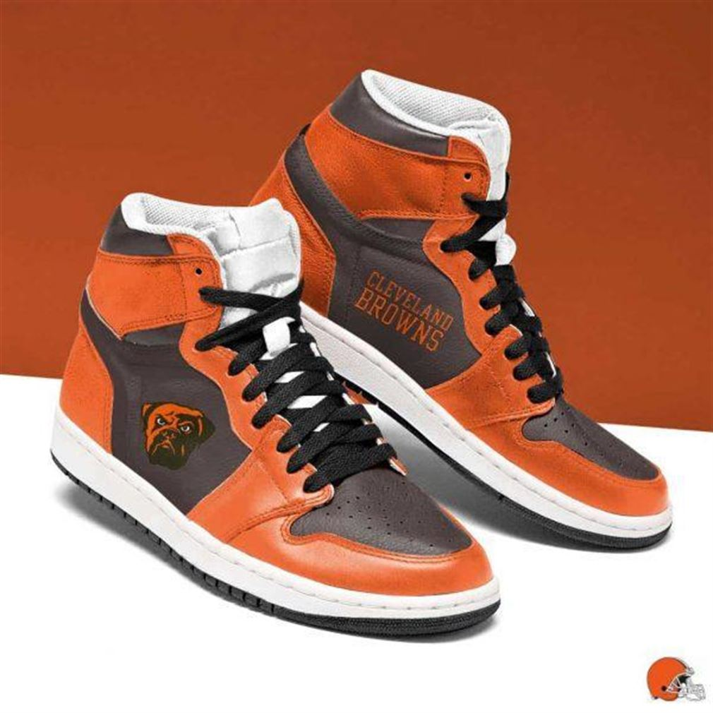 Cleveland Browns Nfl Football Air Jordan Shoes Sport Sneaker Boots Shoes