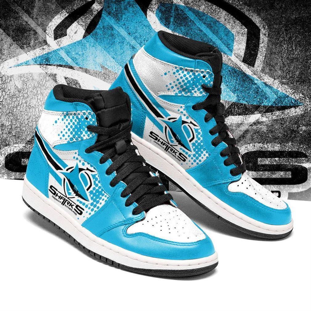 Cronulla-sutherland Sharks Nrl Football Air Jordan Shoes Sport Sneaker Boots Shoes
