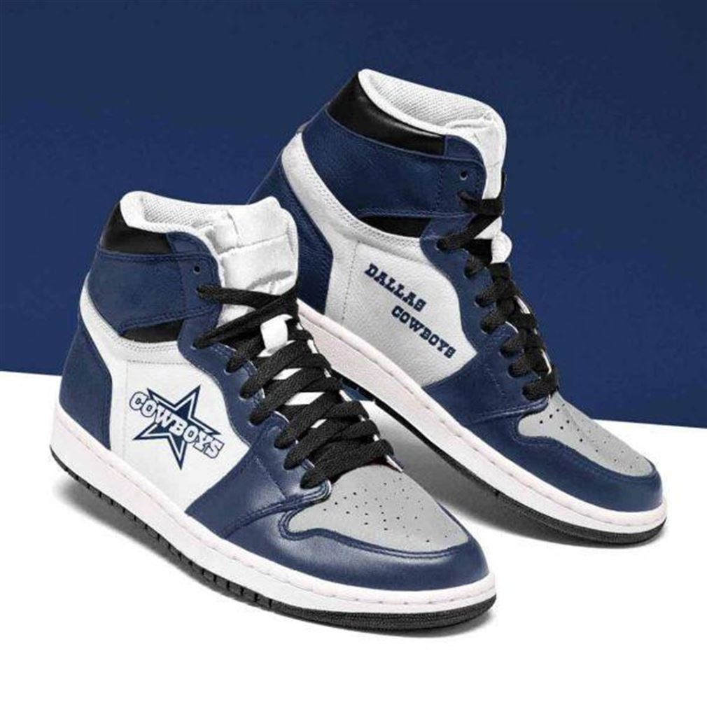 Dallas Cowboys Nfl Football Air Jordan Shoes Sport Sneaker Boots Shoes