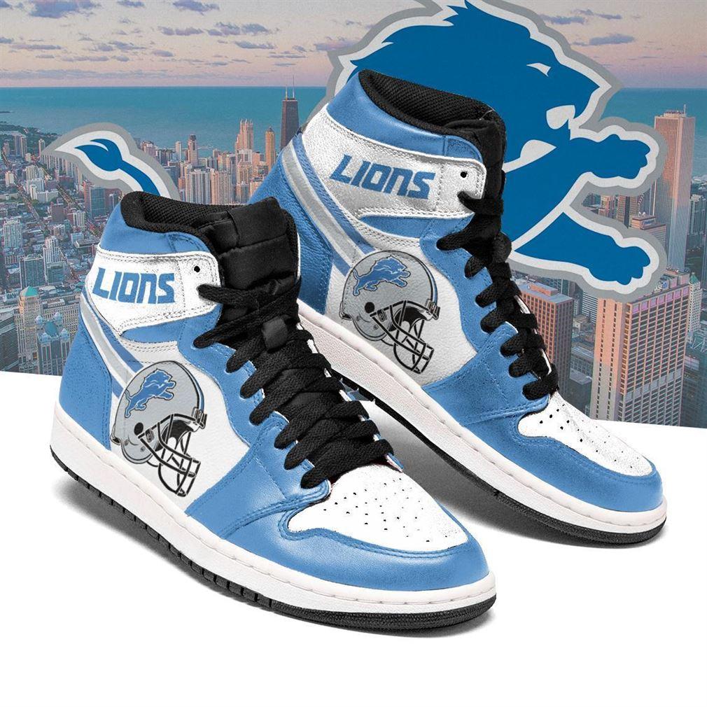 Detroit Lions Nfl Football Air Jordan Shoes Sport V3 Sneaker Boots Shoes
