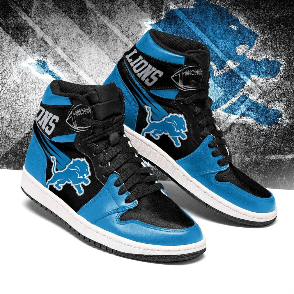 Detroit Lions Nfl Football Air Jordan Shoes Sport V5 Sneaker Boots Shoes