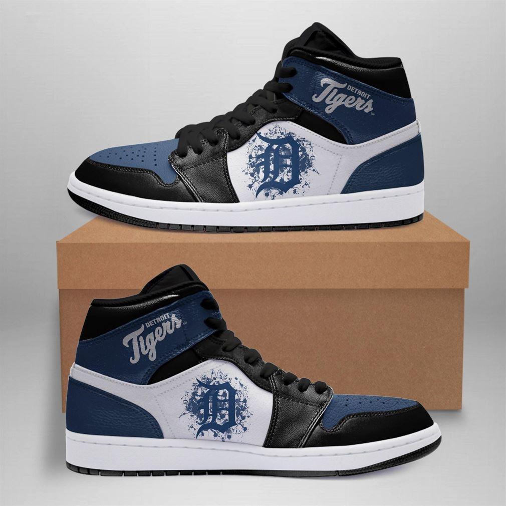 Detroit Tigers Mlb Air Jordan Basketball Shoes Sport V6 Sneaker Boots Shoes