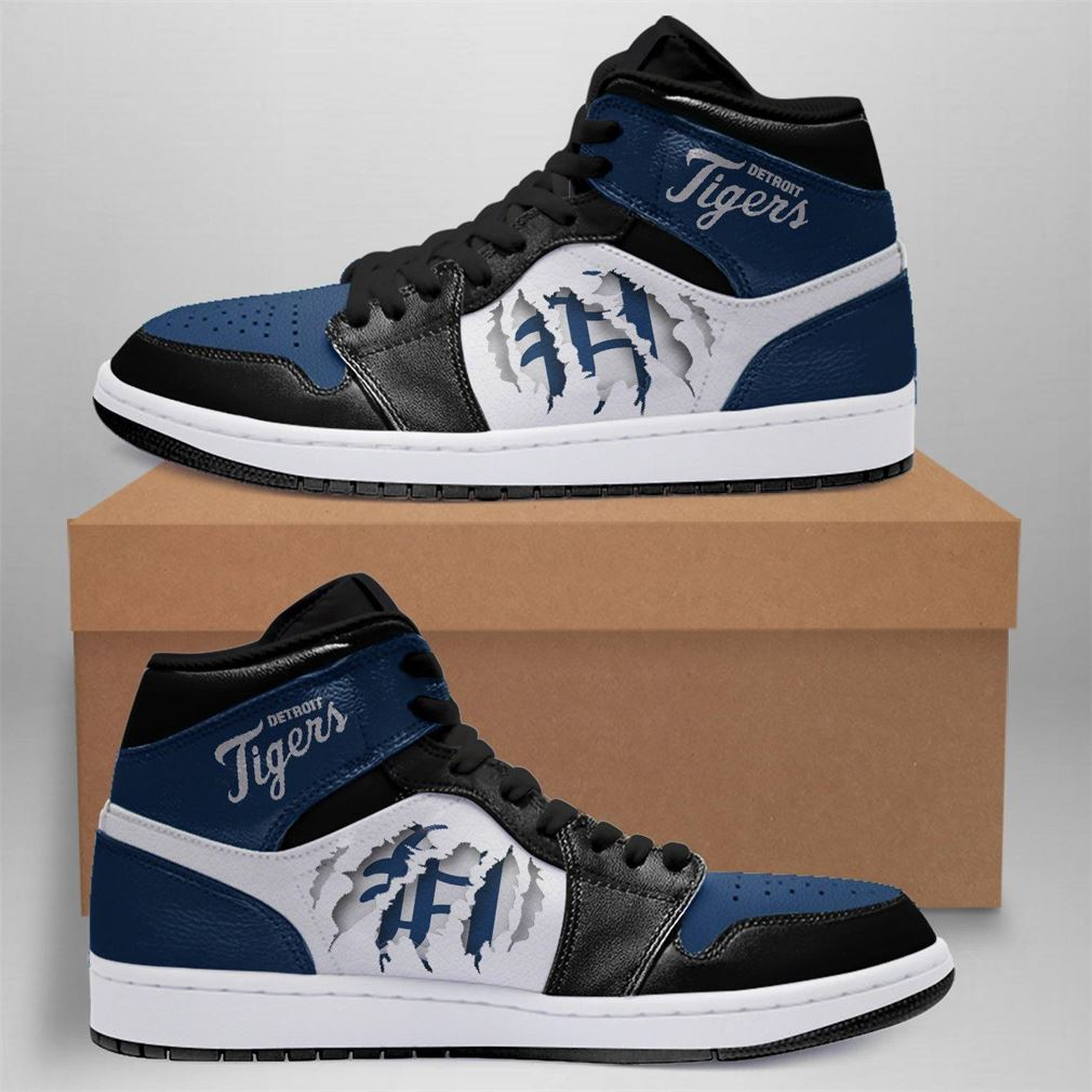 Detroit Tigers Mlb Air Jordan Basketball Shoes Sport Sneaker Boots Shoes