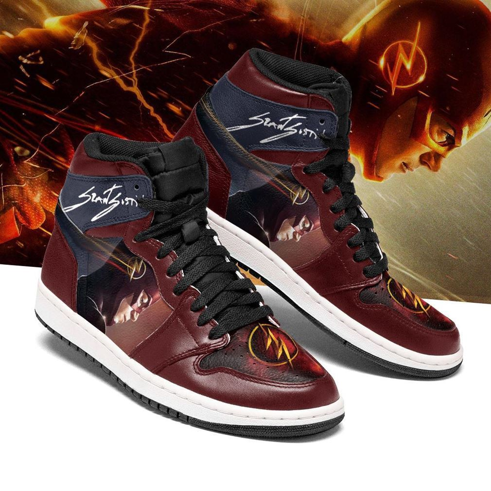 Flash Dc Comics Air Jordan Shoes Sport Sneaker Boots Shoes