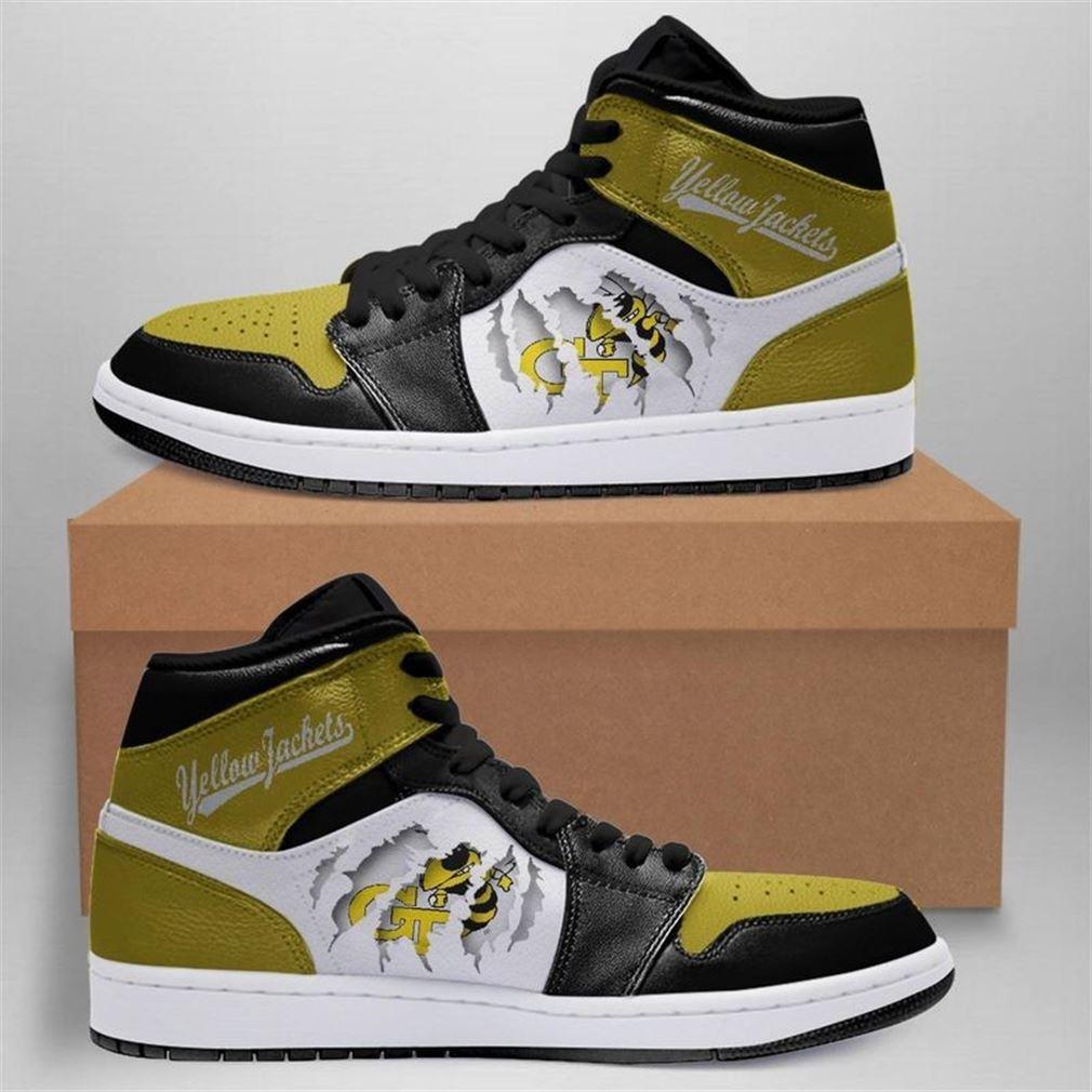 Ga Tech Yellow Jackets Jordan Shoes Sport Custom Jordan Shoes V3 Sneaker Boots Shoes