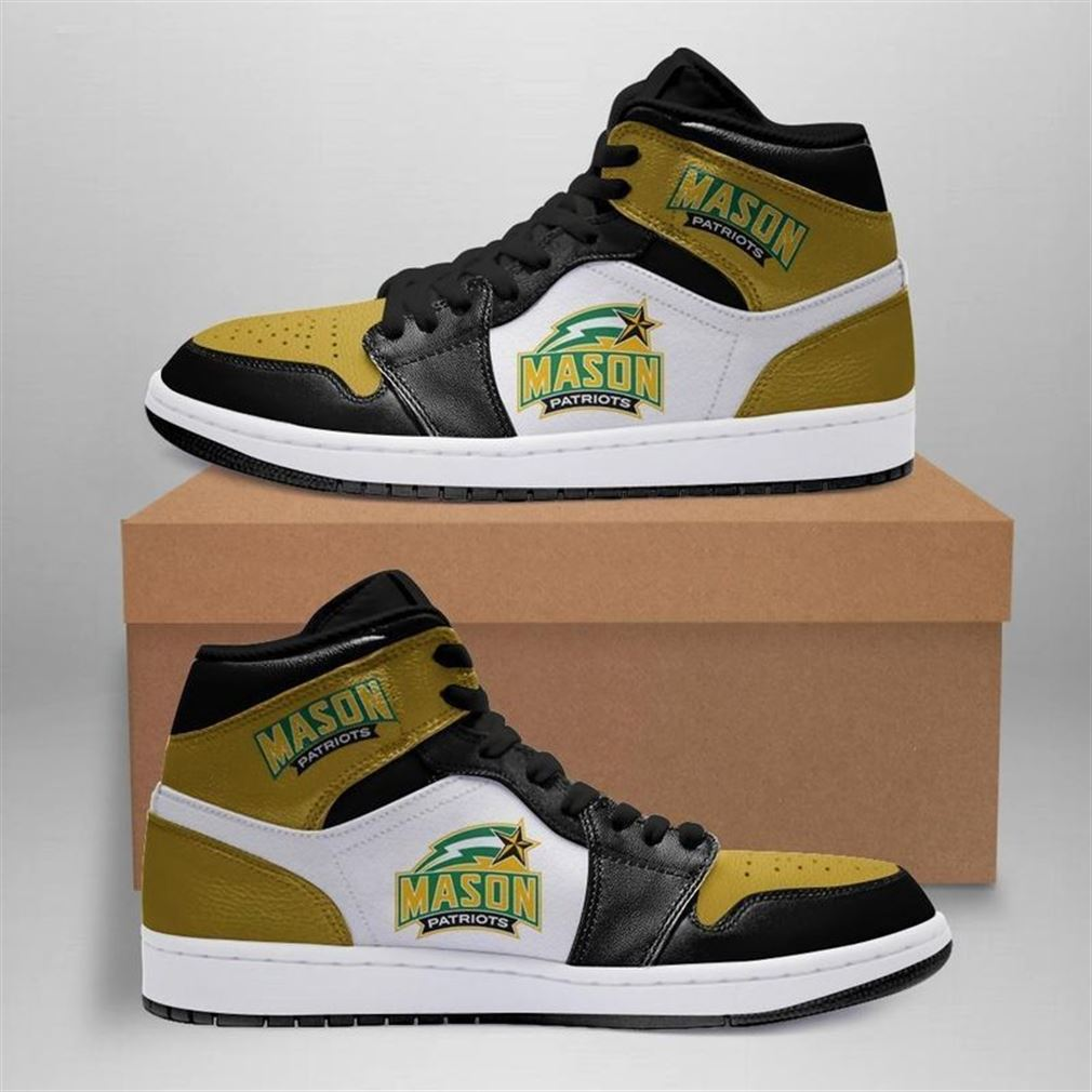 George Mason Patriots Jordan Shoes Sport Custom Jordan Shoe Sneaker V2 Sneaker Boots Shoes