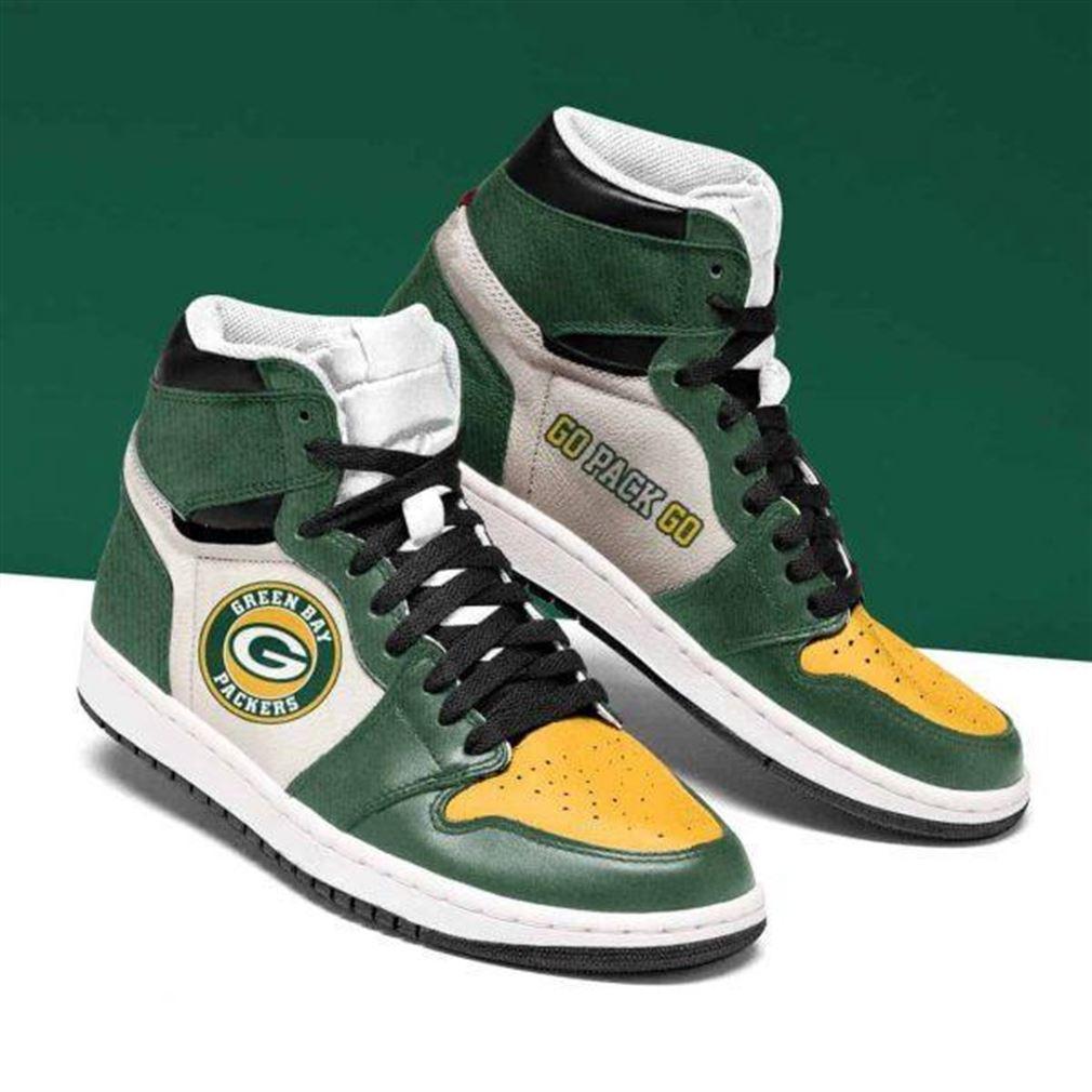 Green Bay Packers Nfl Football Air Jordan Shoes Sport Sneaker Boots Shoes