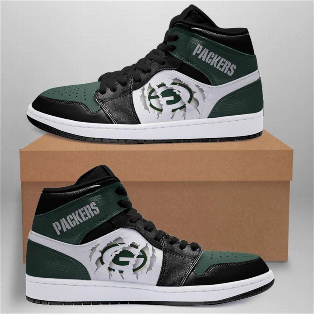 Green Bay Packers Nfl Jordan Shoes Sport Custom Jordan Shoe Sneaker Sneaker Boots Shoes