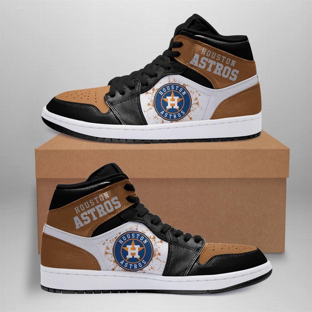 Houston Astros Mlb Air Jordan Basketball Shoes Sport V2 Sneaker Boots Shoes