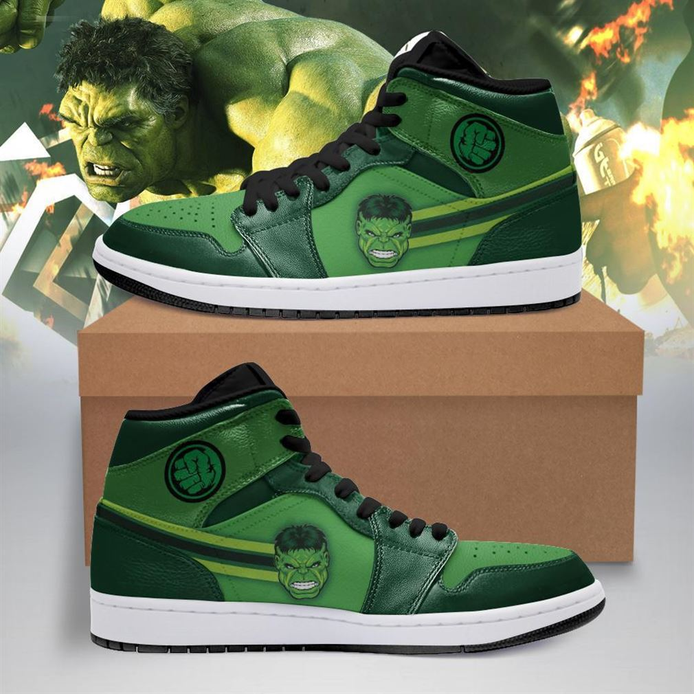 Hulk Marvel Air Jordan Shoes Sport V2 Sneaker Boots Shoes