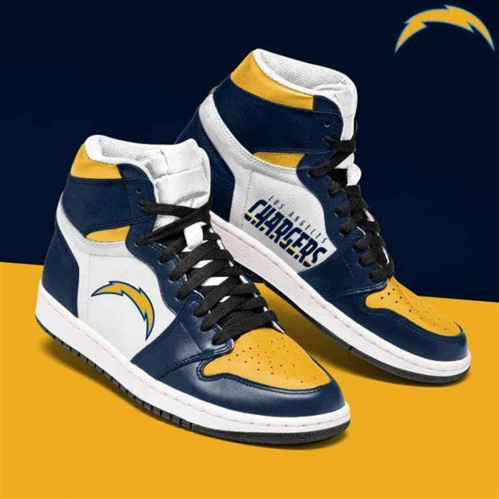 Los Angeles Chargers Nfl Football Air Jordan Shoes Sport Sneaker Boots Shoes