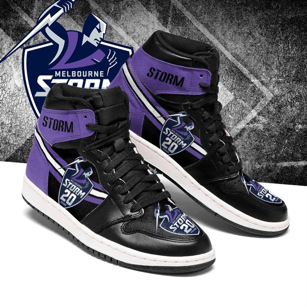 Melbourne Storm Nrl Air Jordan Shoes Sport V2 Sneaker Boots Shoes