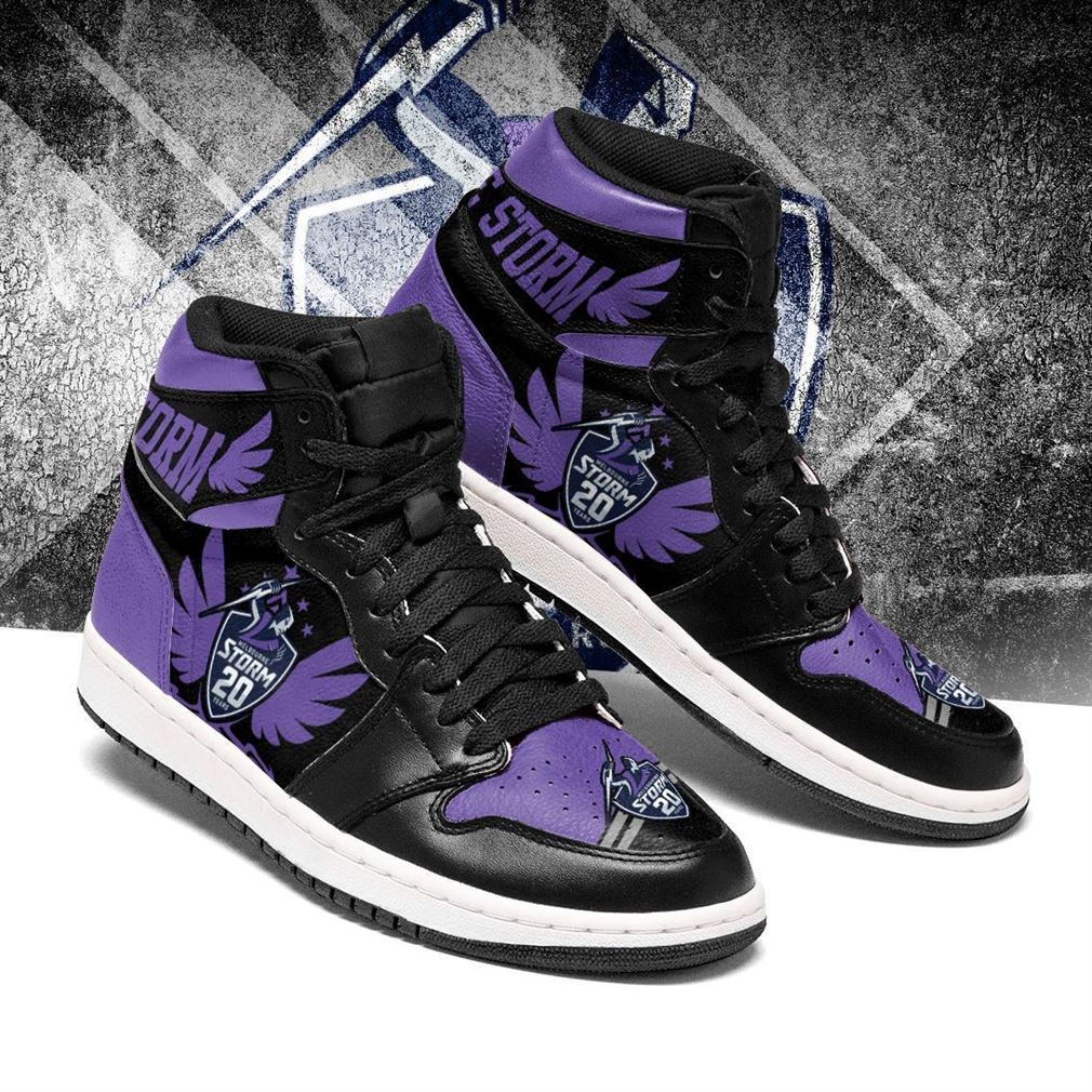 Melbourne Storm Nrl Football Air Jordan Shoes Sport Sneaker Boots Shoes