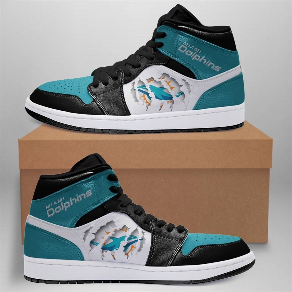 Miami Dolphins Nfl Air Jordan Shoes Sport Outdoor Sneaker Boots Shoes