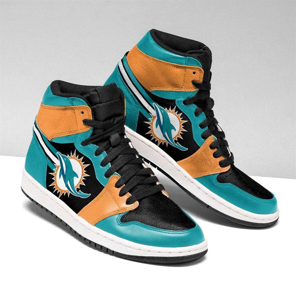 Miami Dolphins Nfl Air Jordan Shoes Sport Sneaker Boots Shoes