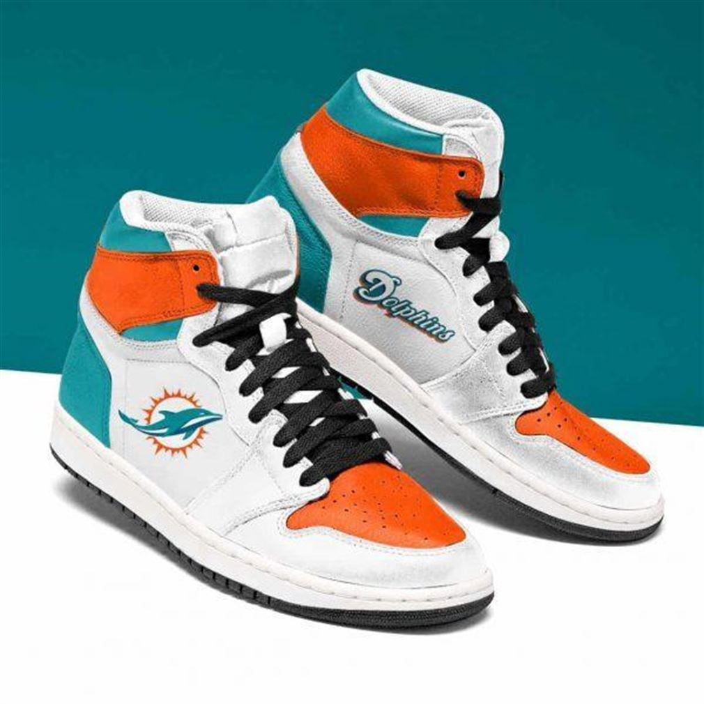 Miami Dolphins Nfl Football Air Jordan Shoes Sport Sneaker Boots Shoes