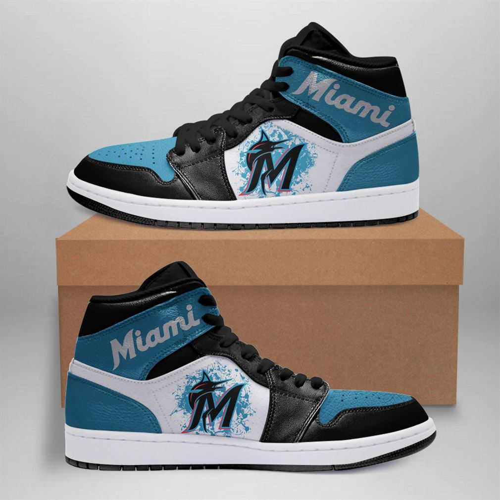 Miami Marlins Mlb Air Jordan Basketball Shoes Sport V4 Sneaker Boots Shoes