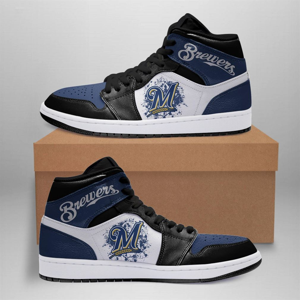 Milwaukee Brewers Mlb Air Jordan Basketball Shoes Sport Sneaker Boots Shoes