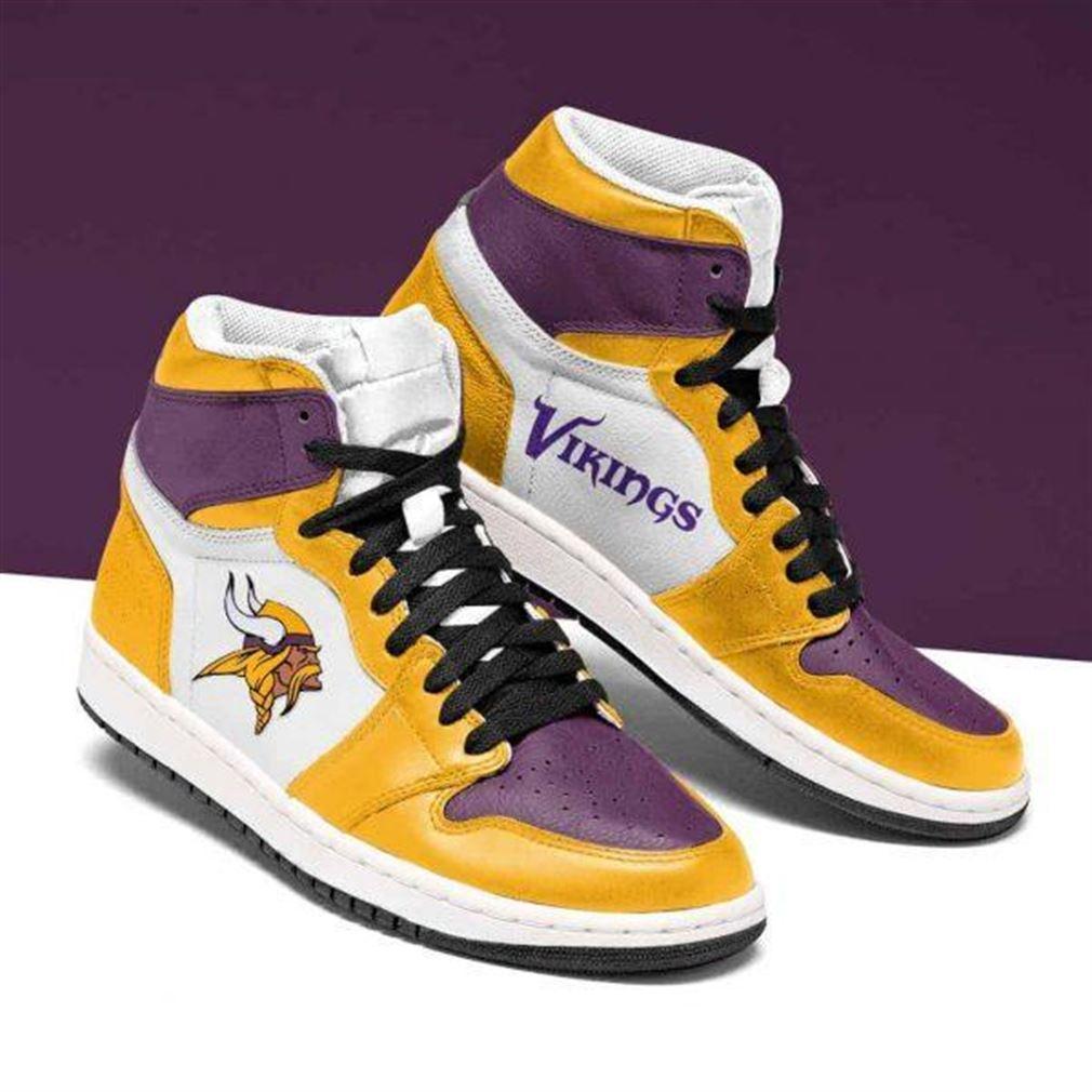 Minnesota Vikings Nfl Football Air Jordan Shoes Sport Sneaker Boots Shoes