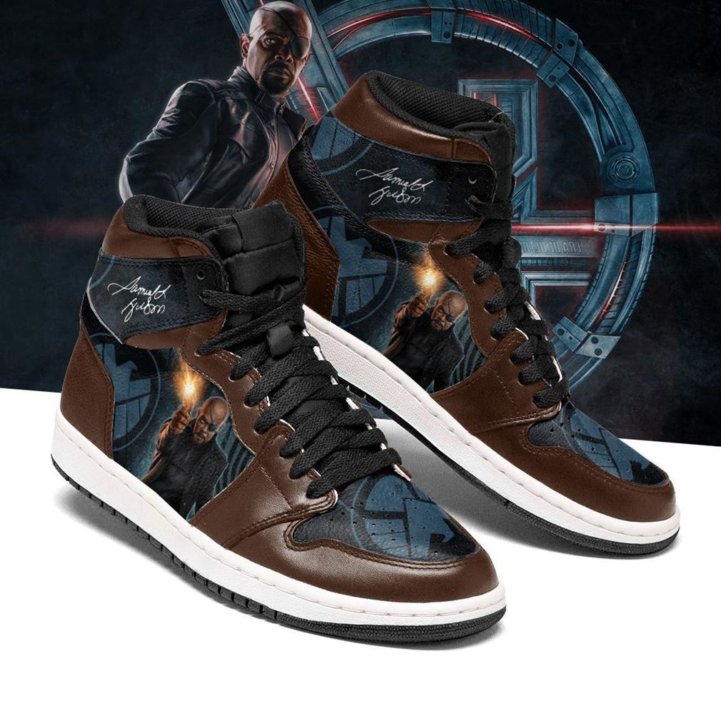 Nick Fury Marvel Air Jordan Shoes Sport Sneaker Boots Shoes