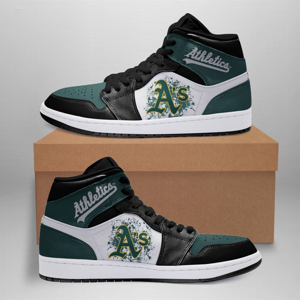 Oakland Athletics Mlb Air Jordan Basketball Shoes Sport Sneaker Boots Shoes