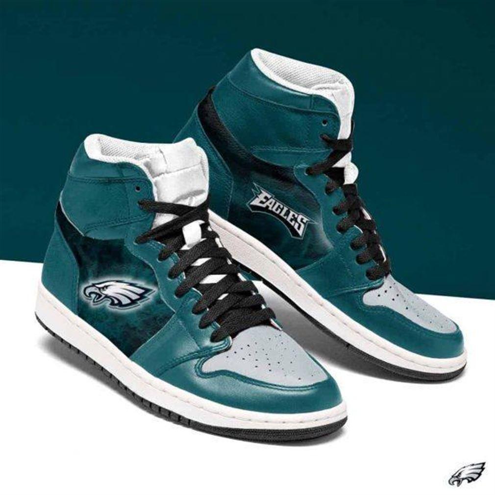 Philadelphia Eagles Nfl Football Air Jordan Shoes Sport Sneaker Boots Shoes