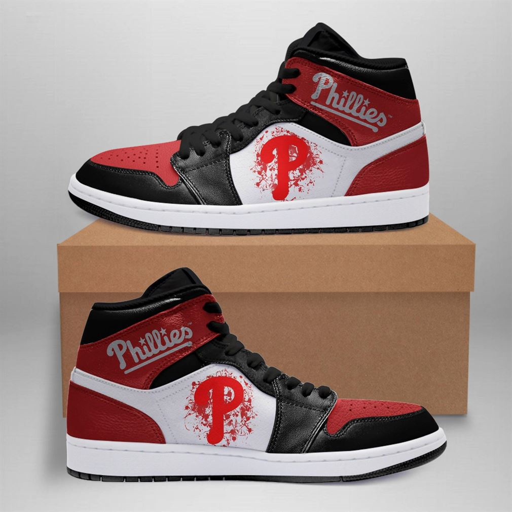 Philadelphia Phillies Mlb Air Jordan Basketball Shoes Sport Sneaker Boots Shoes