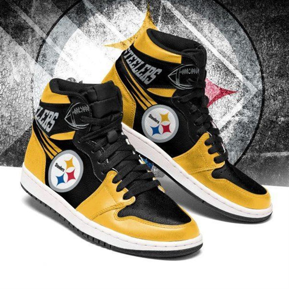 Pittsburgh Steelers Nfl Football Air Jordan Shoes Sport V4 Sneaker Boots Shoes