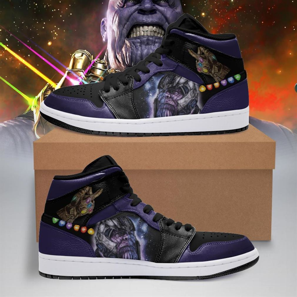Thanos Marvel Air Jordan Shoes Sport V4 Sneaker Boots Shoes