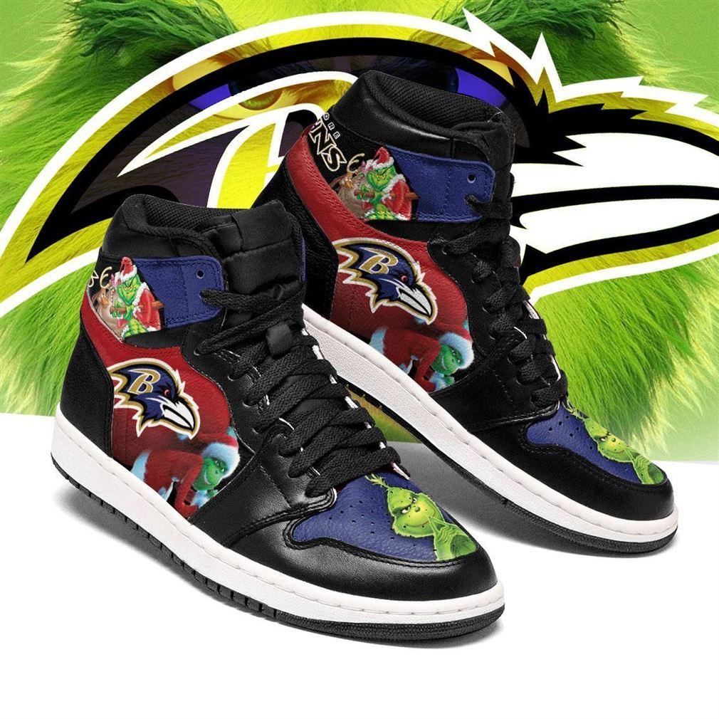 The Grinch Baltimore Ravens Nfl Air Jordan Shoes Sport Sneaker Boots Shoes