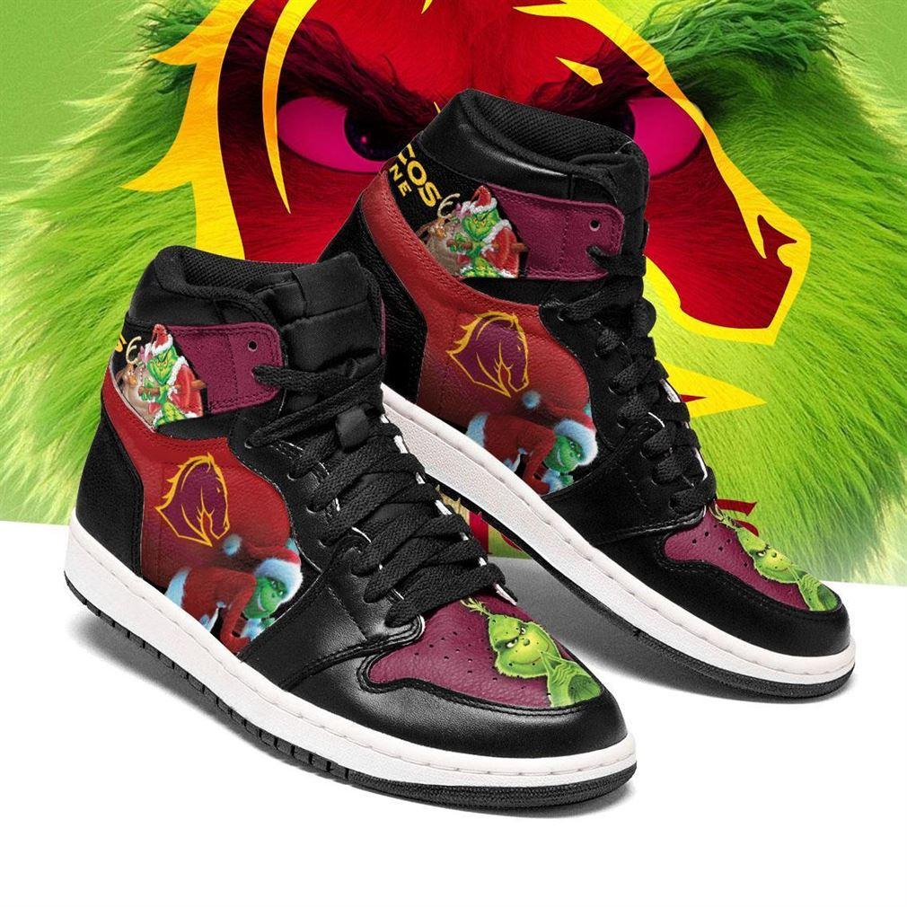 The Grinch Brisbane Broncos Nrl Air Jordan Shoes Sport Sneaker Boots Shoes