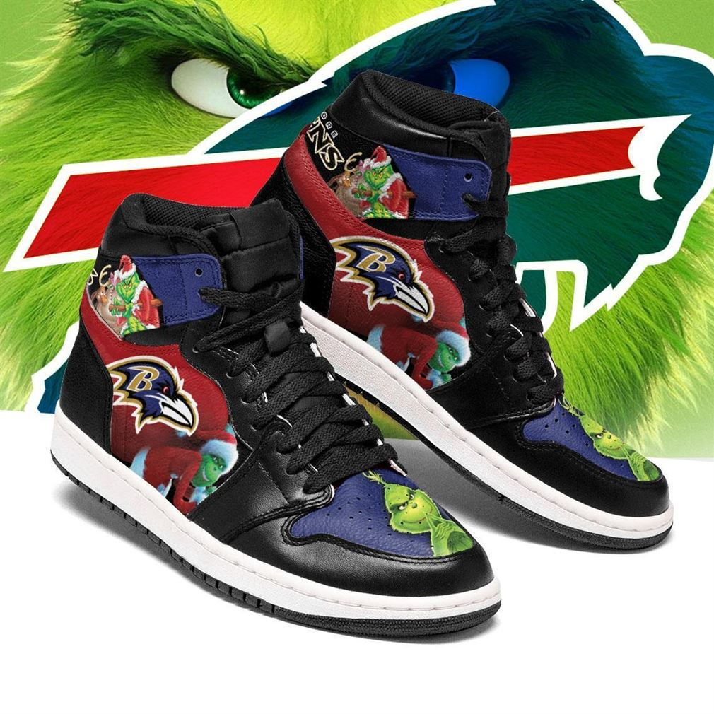The Grinch Buffalo Bills Nfl Air Jordan Shoes Sport Sneaker Boots Shoes