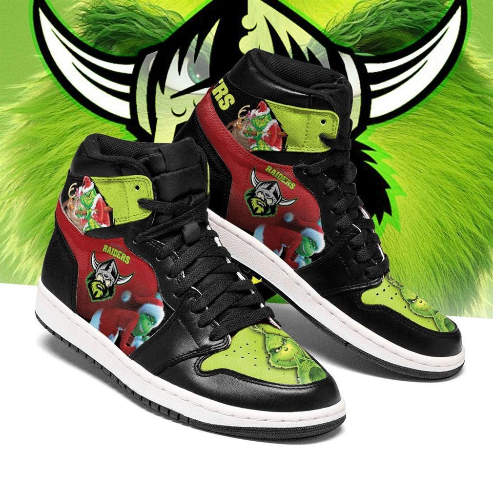 The Grinch Canberra Raiders Nrl Air Jordan Shoes Sport Sneaker Boots Shoes