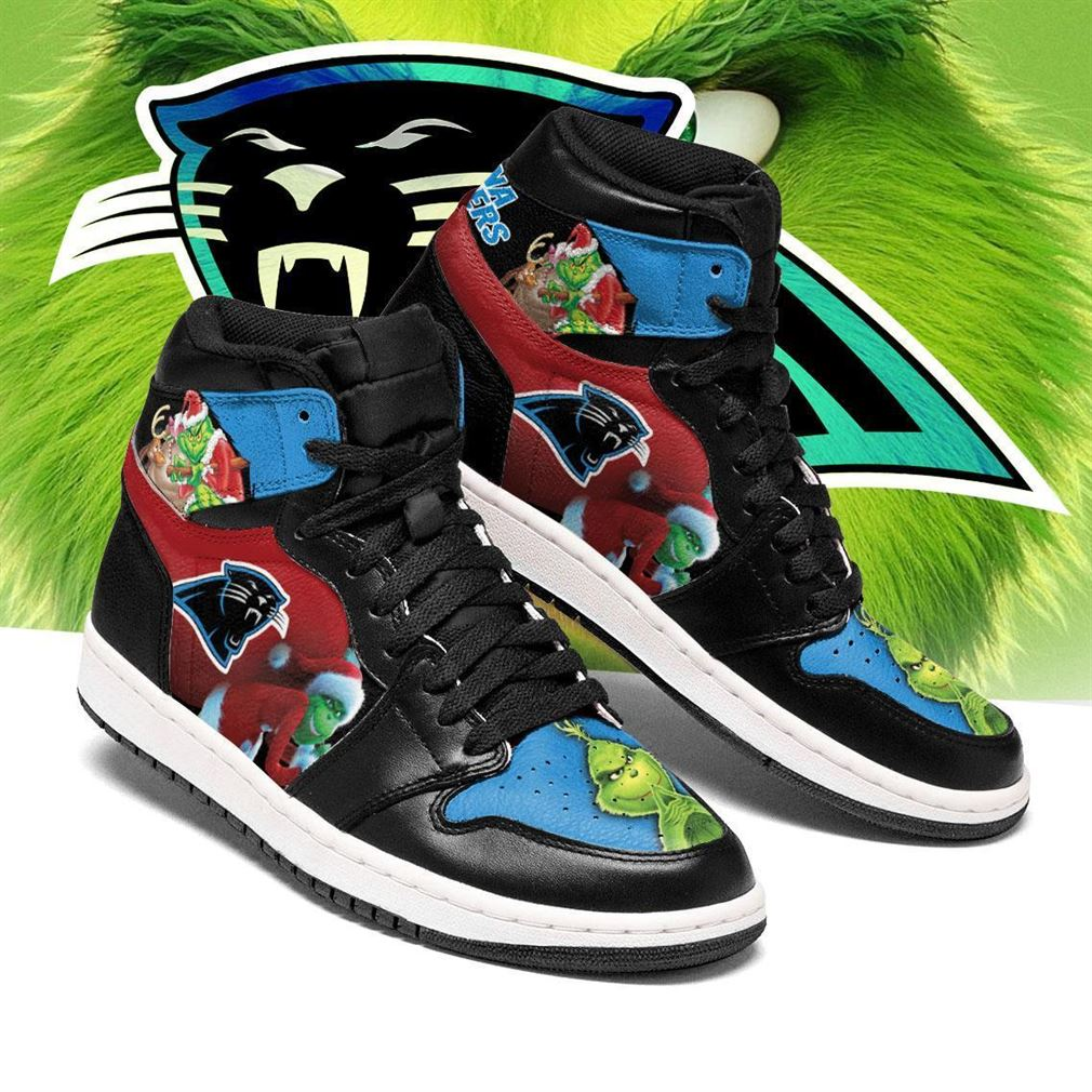 The Grinch Carolina Panthers Nfl Air Jordan Shoes Sport Sneaker Boots Shoes