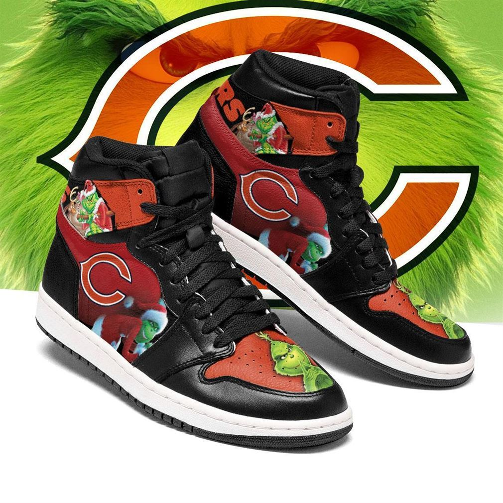 The Grinch Chicago Bears Nfl Air Jordan Shoes Sport Sneaker Boots Shoes