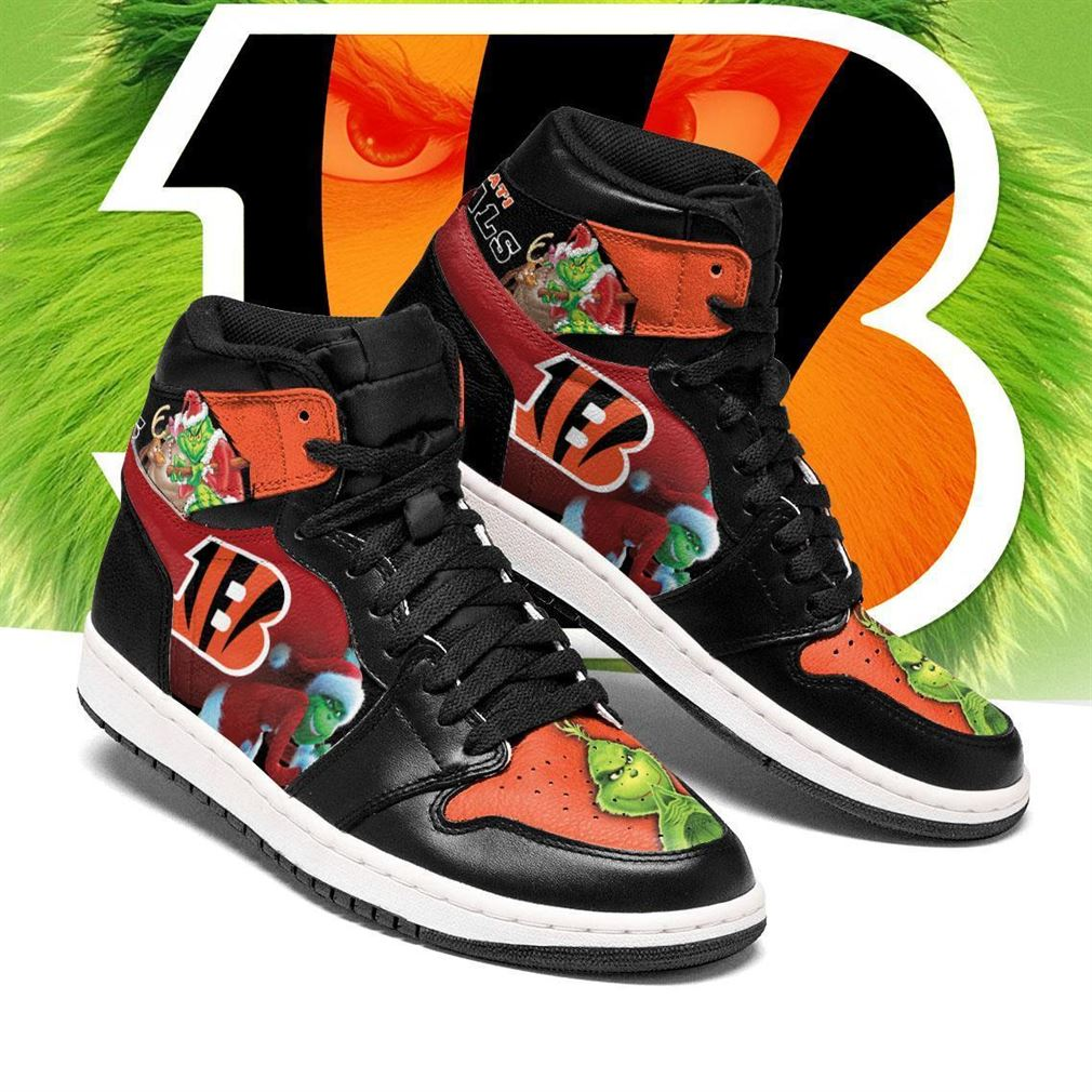 The Grinch Cincinnati Bengals Nfl Air Jordan Shoes Sport Sneaker Boots Shoes