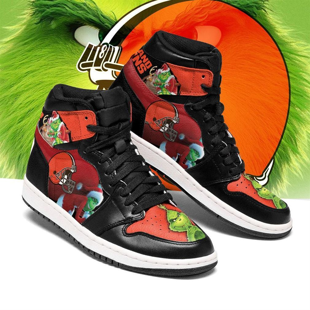 The Grinch Cleveland Browns Nfl Air Jordan Shoes Sport Sneaker Boots Shoes