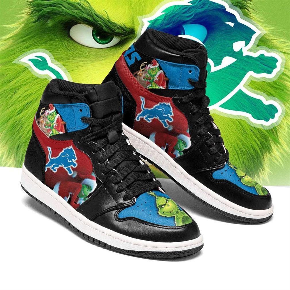 The Grinch Detroit Lions Nfl Air Jordan Shoes Sport Sneaker Boots Shoes