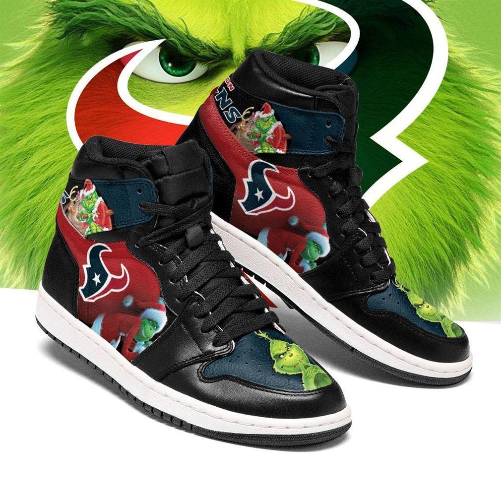 The Grinch Houston Texans Nfl Air Jordan Shoes Sport Sneaker Boots Shoes