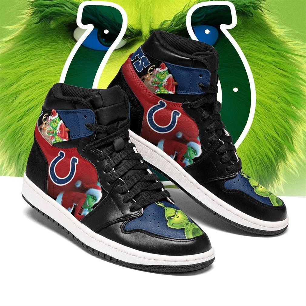 The Grinch Indianapolis Colts Nfl Air Jordan Shoes Sport Sneaker Boots Shoes
