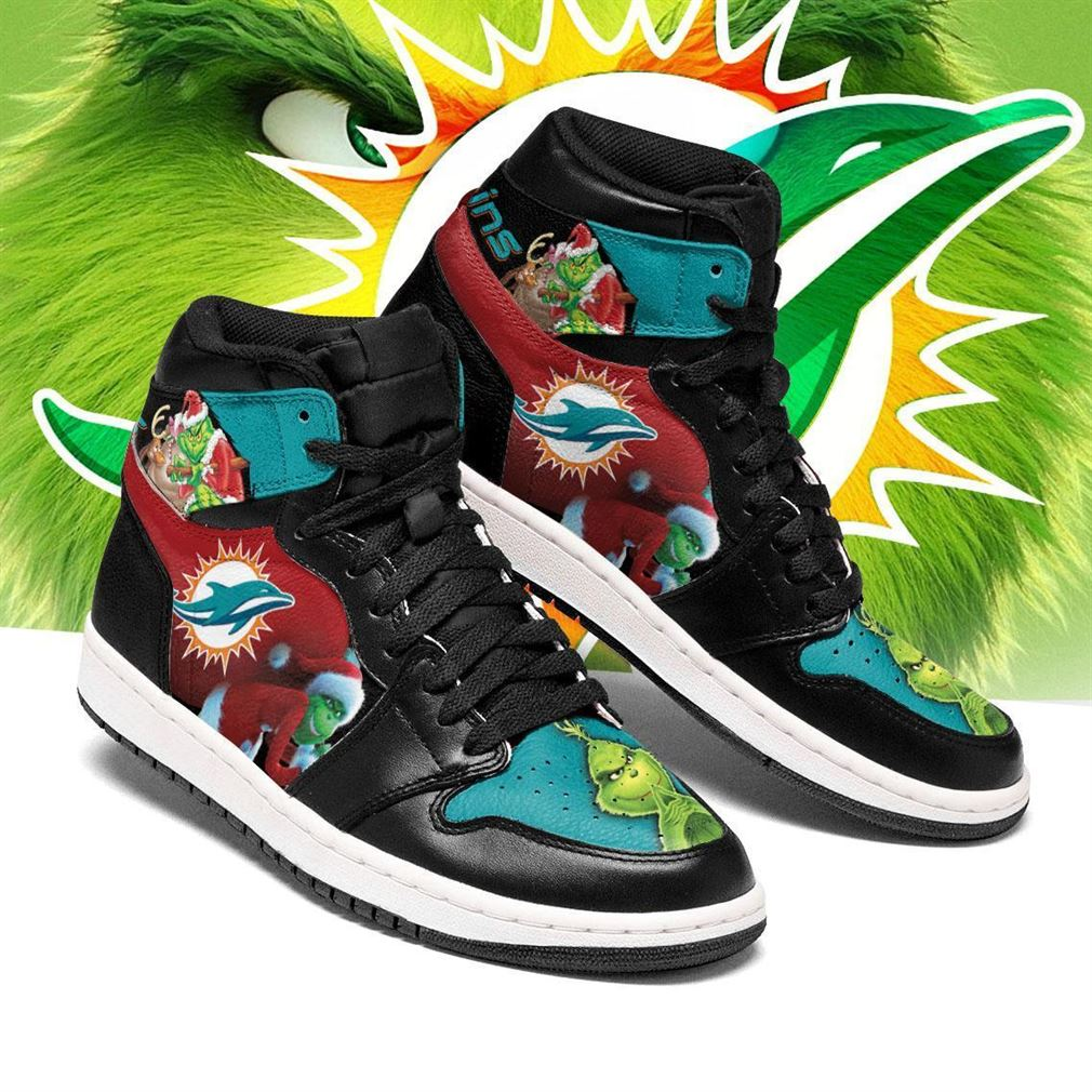 The Grinch Miami Dolphins Nfl Air Jordan Shoes Sport Sneaker Boots Shoes