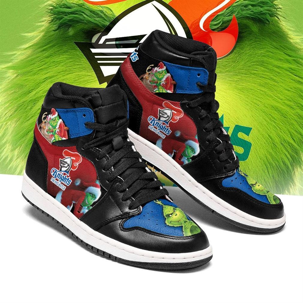 The Grinch Newcastle Knights Nrl Air Jordan Shoes Sport Sneaker Boots Shoes