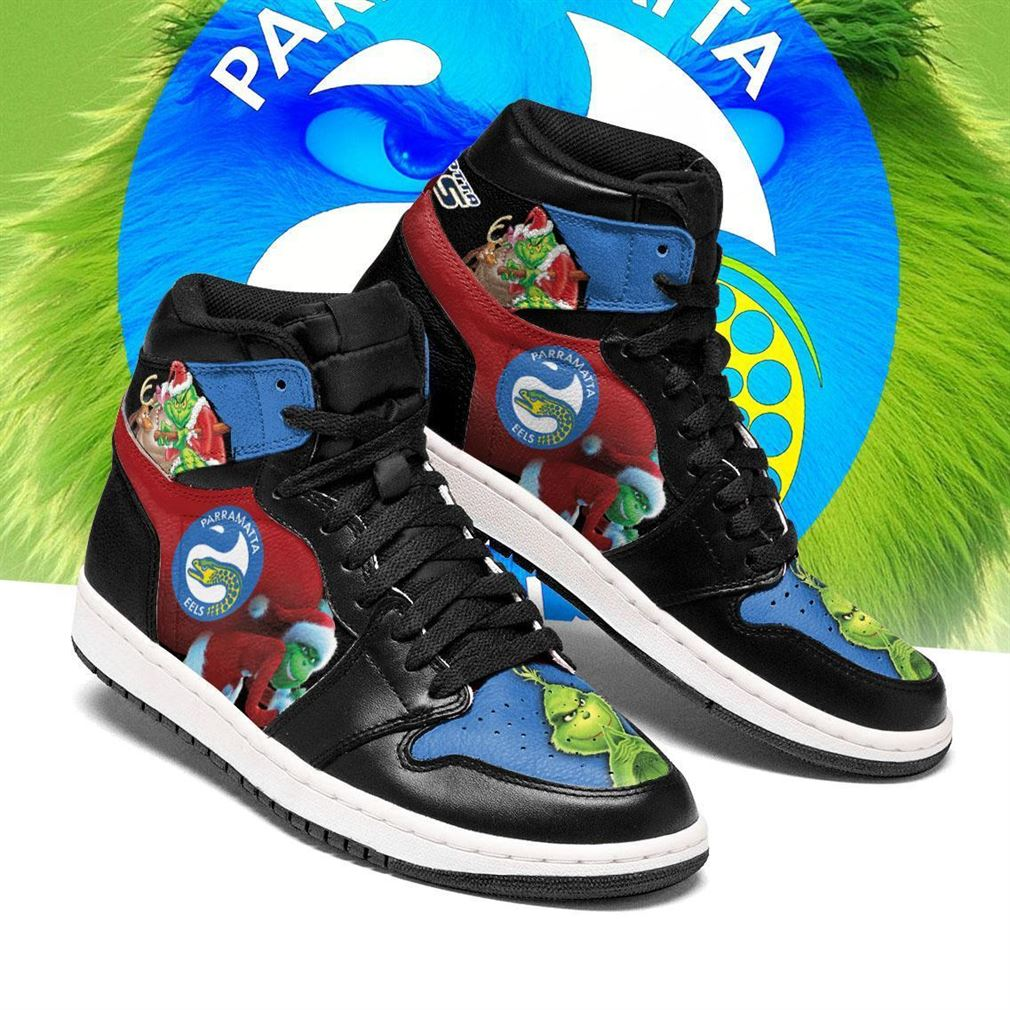 The Grinch Parramatta Eels Nrl Air Jordan Shoes Sport Sneaker Boots Shoes