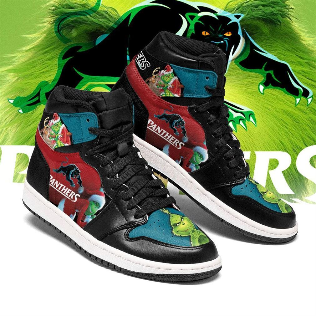 The Grinch Penrith Panthers Nrl Air Jordan Shoes Sport Sneaker Boots Shoes