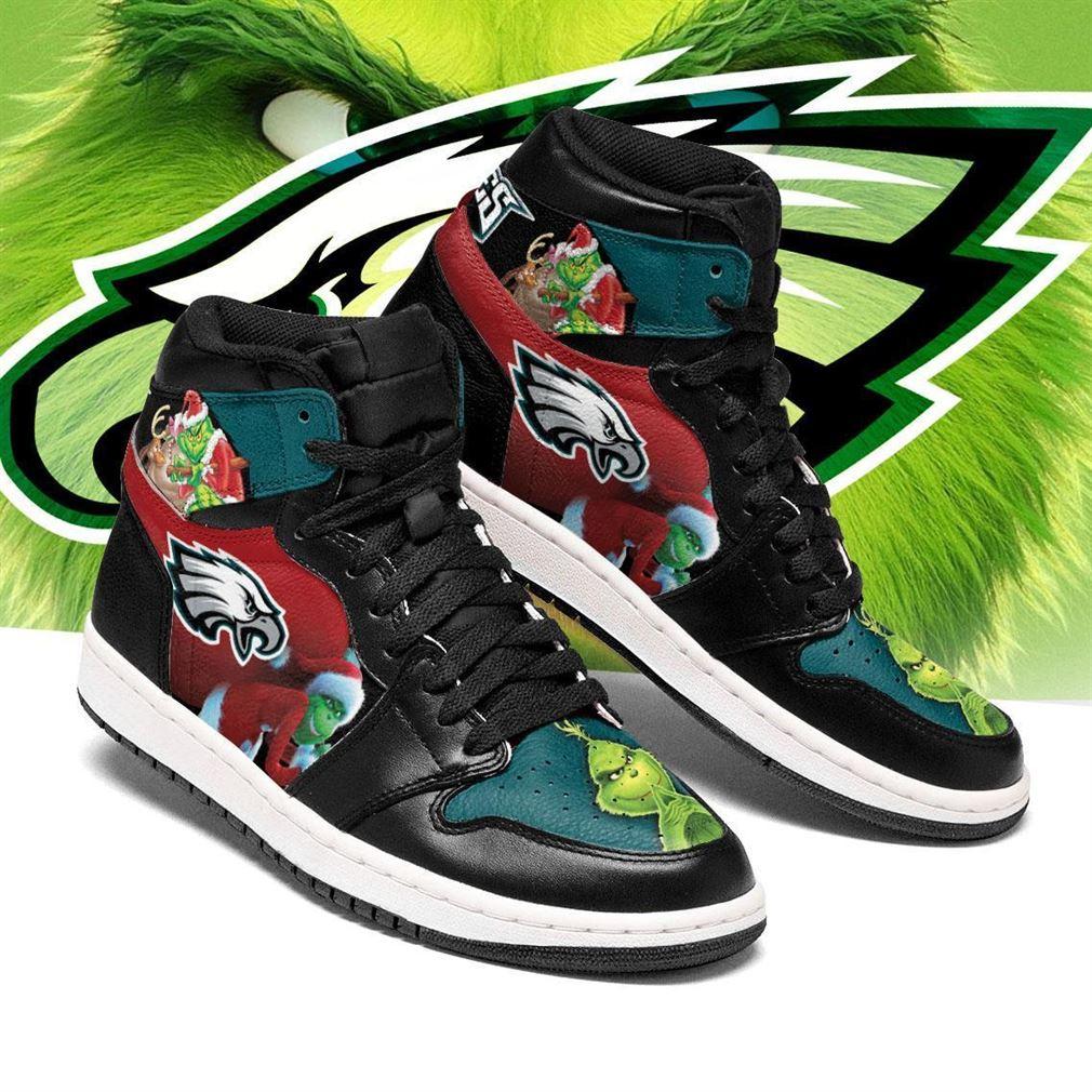 The Grinch Philadelphia Eagles Nfl Air Jordan Shoes Sport Sneaker Boots Shoes