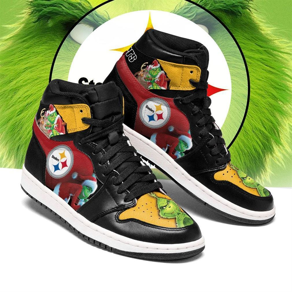 The Grinch Pittsburgh Steelers Nfl Air Jordan Shoes Sport Sneaker Boots Shoes