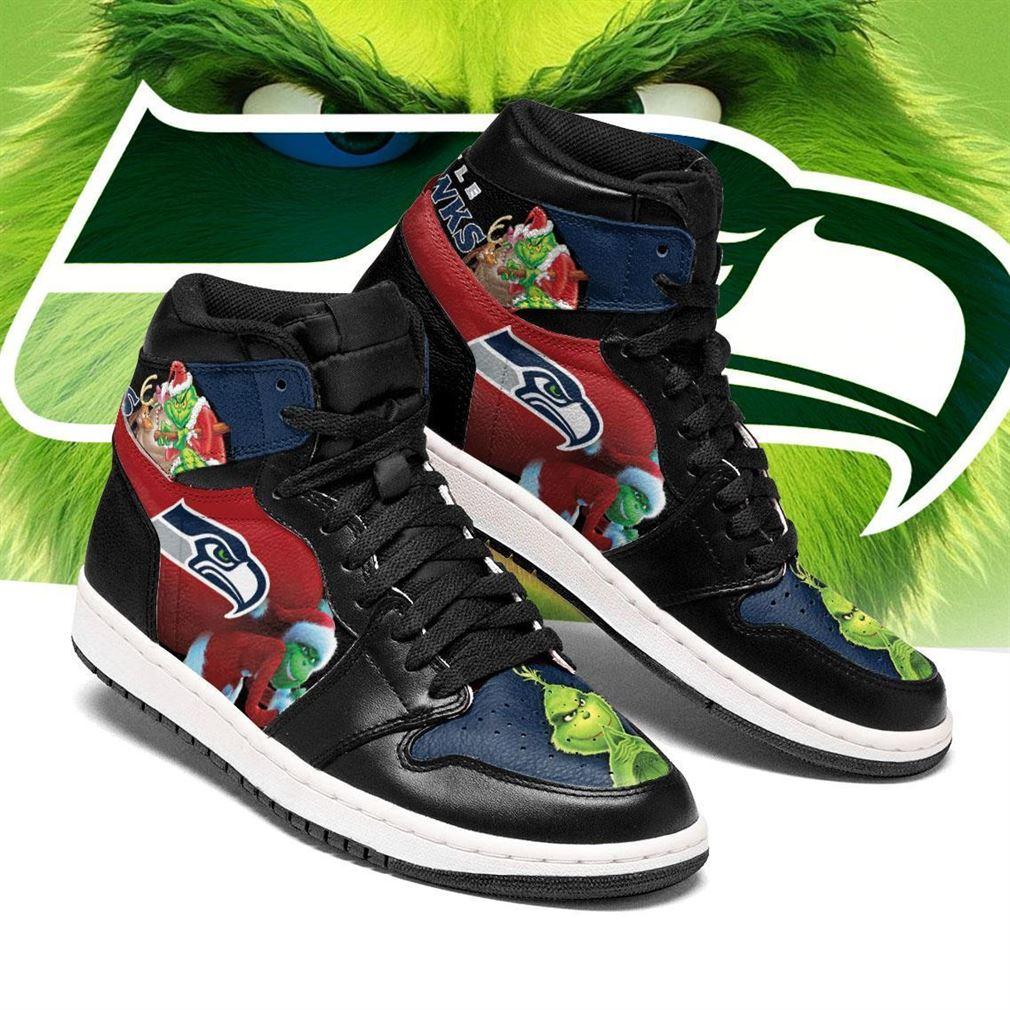 The Grinch Seattle Seahawks Nfl Air Jordan Shoes Sport Sneaker Boots Shoes
