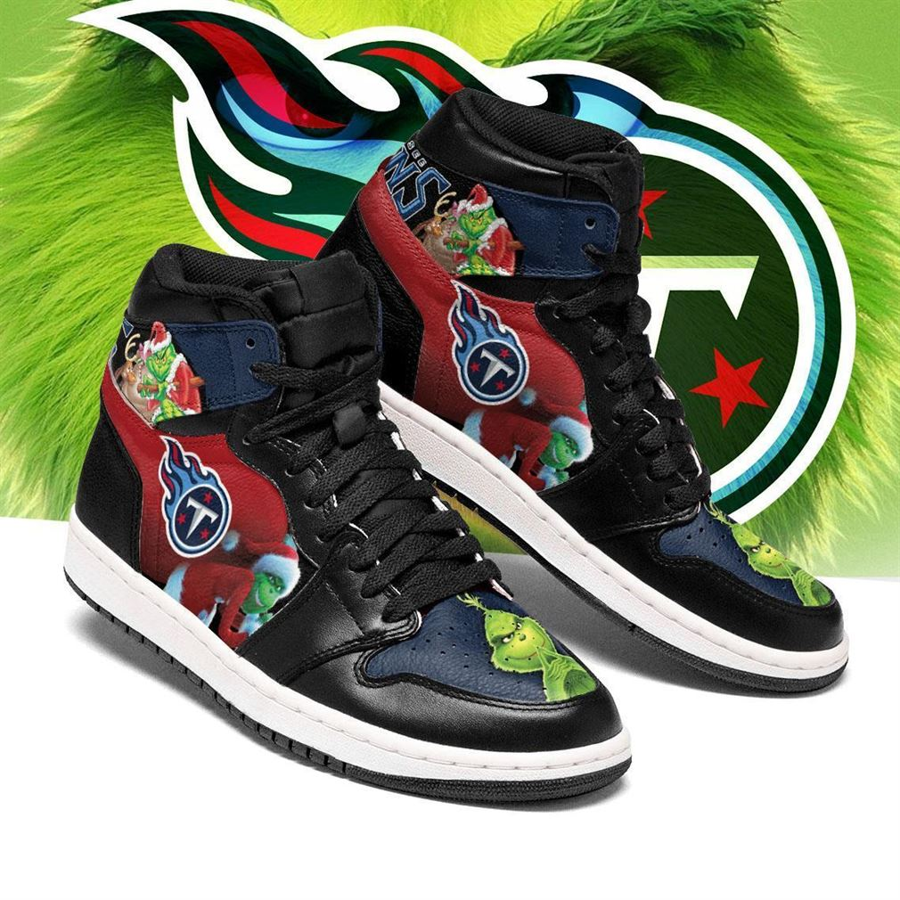 The Grinch Tennessee Titans Nfl Air Jordan Shoes Sport Sneaker Boots Shoes
