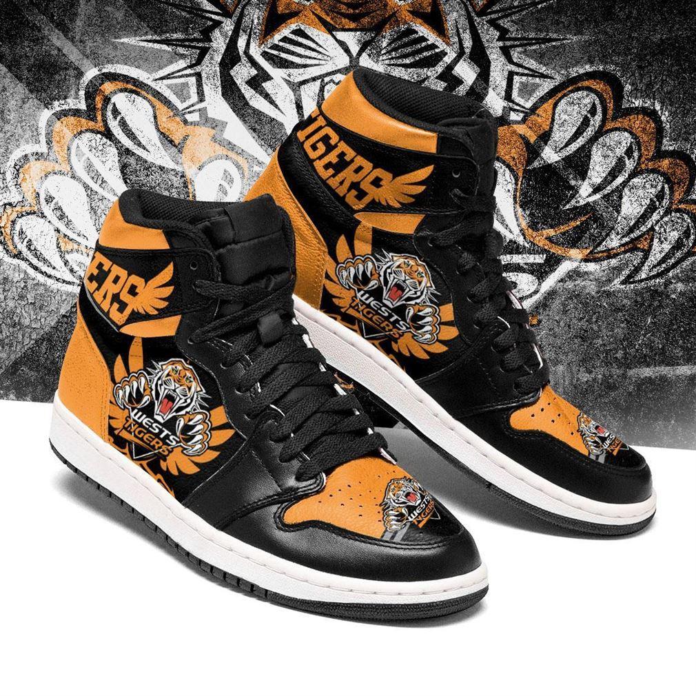 Wests Tigers Nrl Air Jordan Shoes Sport V4 Sneaker Boots Shoes