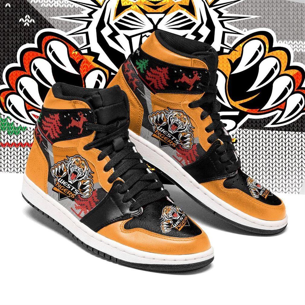 Wests Tigers Nrl Football Air Jordan Shoes Sport V2 Sneaker Boots Shoes